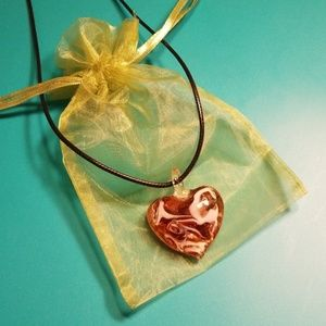 Jewelry - GEMSTONE HEART NECKLACE . NEW